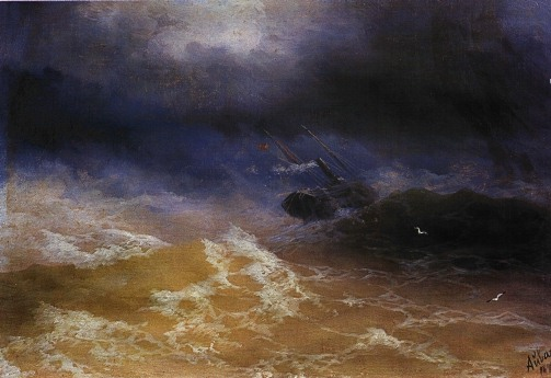 Storm Sturm Aivasovsky Ivan Constantinovich storm on sea 1899 IBI Storm in Art   Sturm in der Kunst Turner